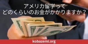 どのくらいのお金がかかりますか? | アメリカ留学支援 | KOBAZEMI.ORG